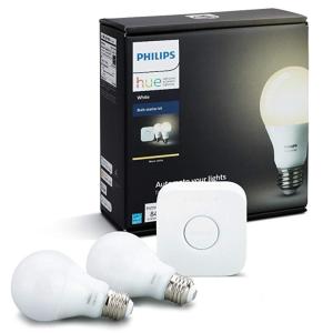 Philips Hue White Dimmable LED Smart Bulb Starter Kit
