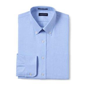 Lands' EndMen's Traditional Fit Solid Supima Oxford Hyde Park Dress Shirt