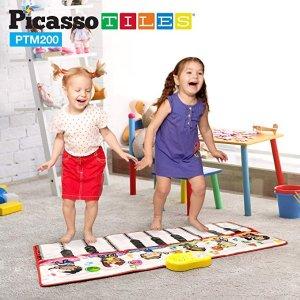 PicassoTiles需点击8.5折优惠券便携式脚踏17键钢琴毯