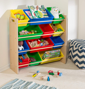 $38Honey-Can-Do SRT-01602 Kids Toy Organizer and Storage Bins, Natural/Primary