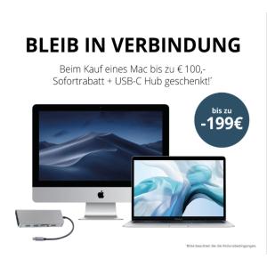 直减€100 再送€99 8合1扩展坞MacTrade 折扣延期 苹果电脑最高免€199+学生老师额外95折