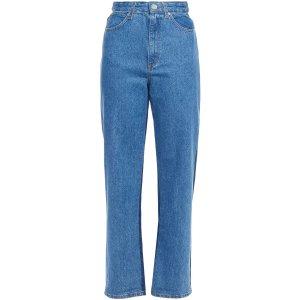 Sandro40,42码高腰直筒牛仔裤