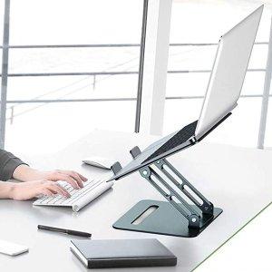 折后€22.39 高度角度随心调LORYERGO 铝制可折叠笔记本电脑支架热促 人体工学设计