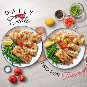 $10.99起 一周5天换样吃Red Lobster 海鲜套餐优惠,龙虾、炸鳕鱼、烤大虾任你选