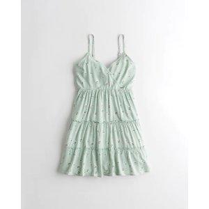 HollisterTiered Wrap Mini Dress