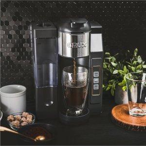 CruxK-Cup 胶囊咖啡机 40oz水箱 也可以使用咖啡粉