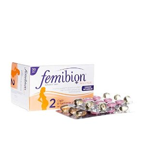 Merck 2段叶酸胶囊 2 x FEMIBION Natal Plus #2-30 TABS + 30 CAPS - Total 60 CAPS + 60 TABS - Healthy Preganancy Vvitamins DHA