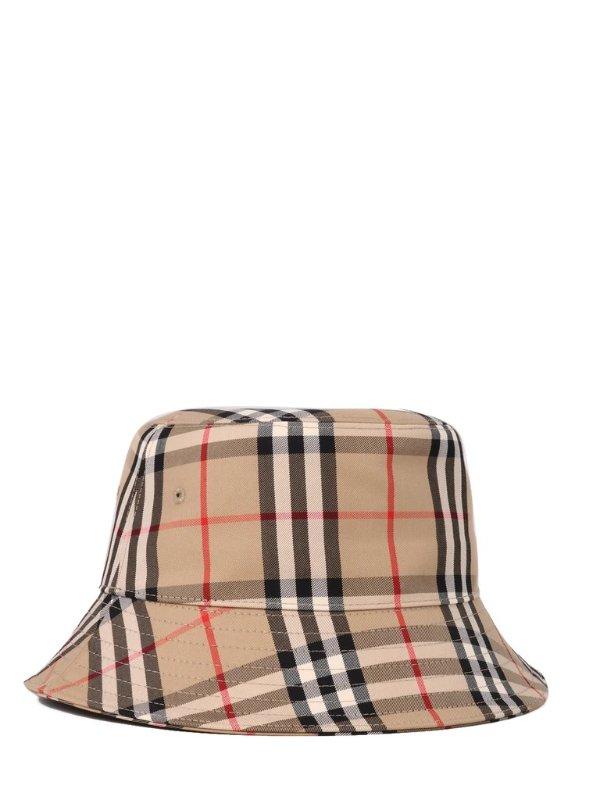 Vintage Check格子渔夫帽