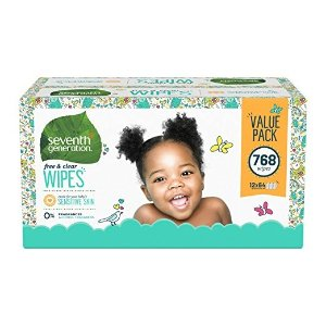 Seventh GenerationBaby Wipes, Free & Clear with Flip Top Dispenser, 768 count