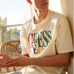 低至4折+额外9折 $13.5收logo T限今天:Guess Factory 精选时尚男女Tee特卖 收各款潮T