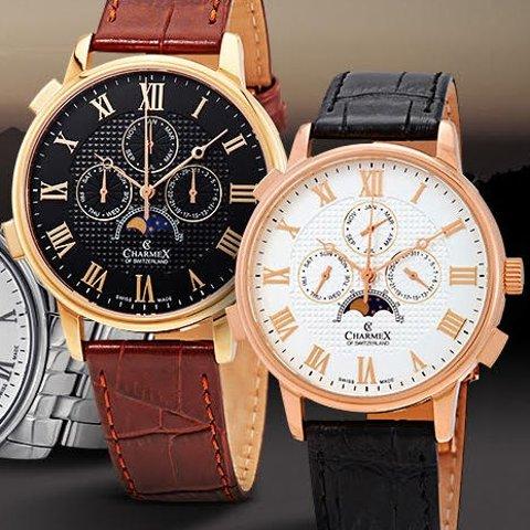Extra $200 OffCHARMEX Wildenstein Complete Calendar Men's Watches