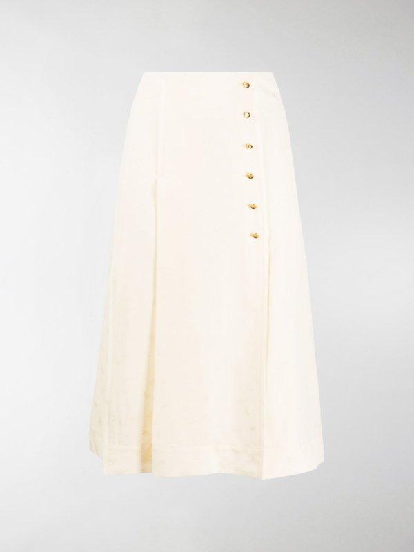 纽扣半身裙