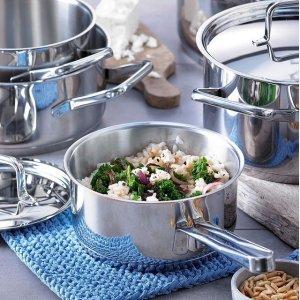 低至3折+立减15欧+折上9折Otto 厨具专场大促 快抢WMF锅具套装、GSW铸铝套锅
