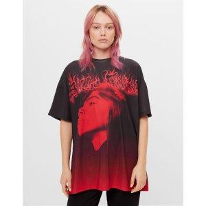 Billie Eilish x Bershka 女士短袖T恤