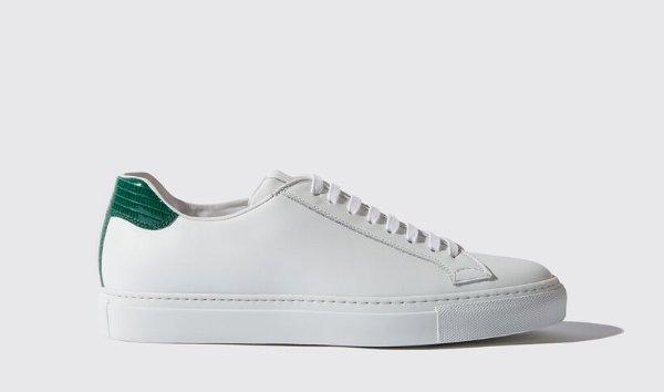 男士绿尾小白鞋