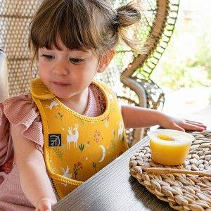 $2.99收动物风餐垫Simons 儿童餐具 围兜$6.99 可涂鸦餐垫套装$12.99
