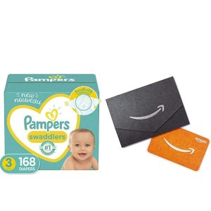 Free $10 Gift CardPampers Select Disposable Baby Diapers ONE Month Supply