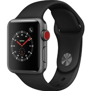 $199.99黒五价:Apple Watch Series 3 38mm (GPS) 运动手表