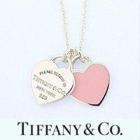 Tiffany & Co. 粉色双心项链