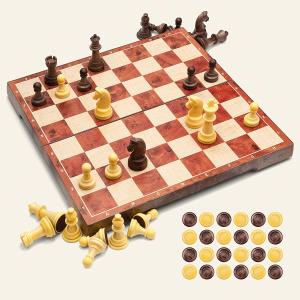 售价€37.99UNEEDE 磁性国际象棋游戏 31.2 x 31.2 cm可折叠 超便携