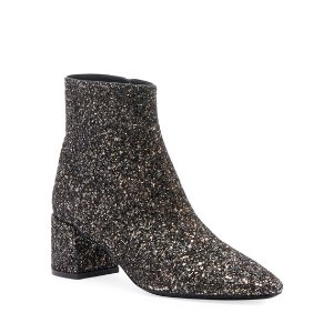 Saint LaurentLouLou Washed Glitter Booties