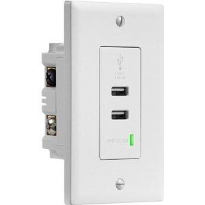 $9.99 (原价$39.99)Insignia 3.6A 带浪涌保护 USB 墙插