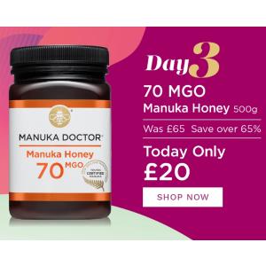 低至2折 €23入大罐蜂蜜Manuka Doctor 新年大促 提高日常免疫力 抵抗病毒干扰