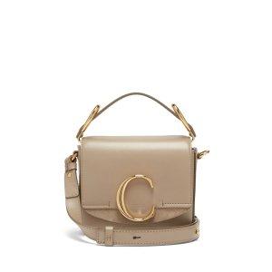 ChloeThe C mini leather and suede shoulder bag | Chloe | MATCHESFASHION.COM US