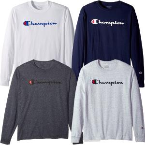 $9.35 Champion Men's Classic Jersey Long Sleeve Script T-Shirt