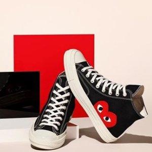 $175起 潮人出街标配Comme des Garçons Play 娜比同款小红心帆布鞋