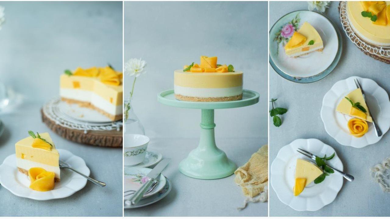 冻乳酪芒果双层慕斯配方+多种慕斯模具总结