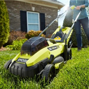 Ryobi 13 in. ONE+ 18-Volt Lithium-Ion Cordless Battery Walk Behind Push Lawn Mower