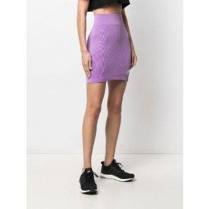 NikeL 粉色 紫色针织运动风短裙