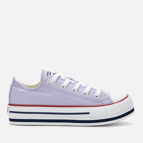 大童款香芋紫帆布鞋
