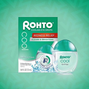 $7.80Rohto Cool The Original Cooling Redness Relief Eye Drops, 0.4 Ounce, 3 Count