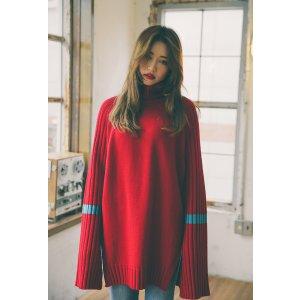 Stylenanda长袖拼色毛衣