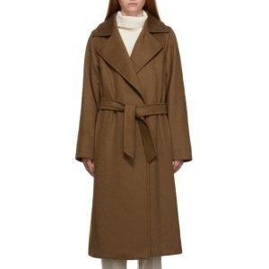Max Mara100%骆驼羊毛,36-42码有!Manuela棕色系带大衣