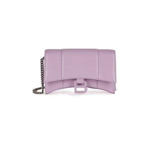 Balenciaga新款,超美配色拼手速Hourglass WOC 香芋紫