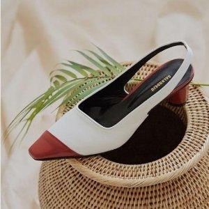独家额外8.5折+限时免邮最后一天:Salondeju 露跟鞋、金扣短靴2日热卖,优雅复古范儿
