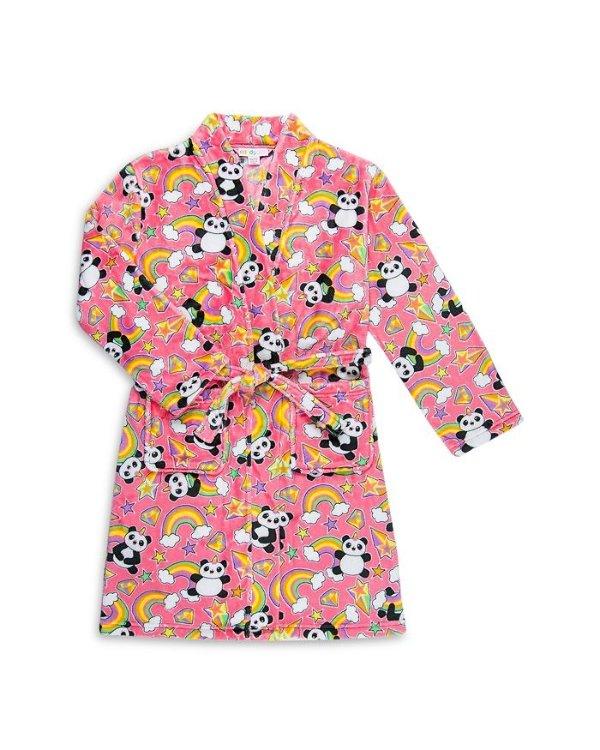 Candy Pink 女童抓绒睡袍