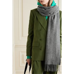 Acne StudiosCanada fringed 羊毛围巾