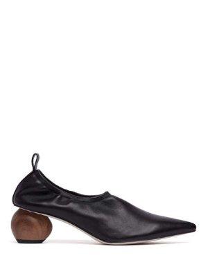 NOLEN - POINTED EGG HEEL PUMPS | HEELS | All Shoes | Pedder Red