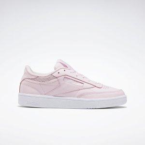Reebok樱花粉Club C 85 女鞋
