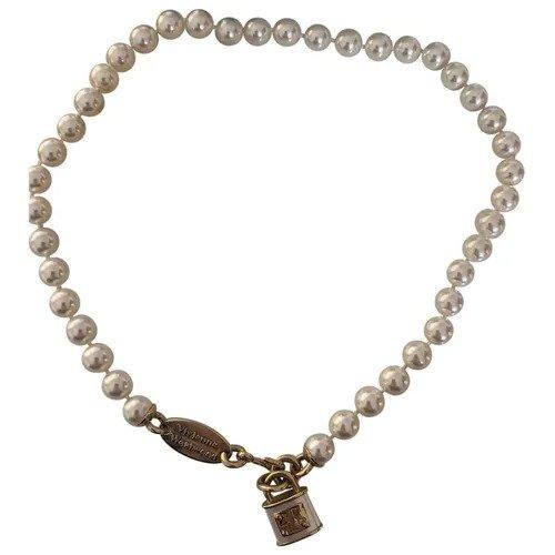 珍珠锁头项链