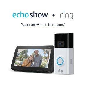 $139Ring Video Doorbell 2 + Amazon Echo Show 5 Smart Display
