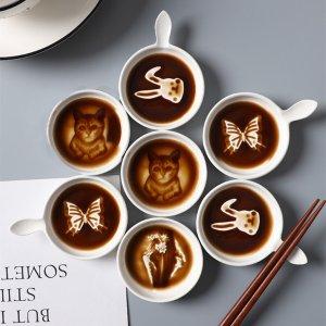 5折 仅€2.44 (原价€4.87)日式网红酱油碟 底部图案会浮现 猫咪、兔子、蝴蝶、富士山都有