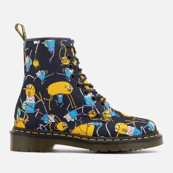儿童印花马丁靴