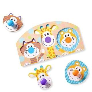 低至3.6折史低价:Melissa & Doug 儿童益智玩具,收3片拼图和青蛙