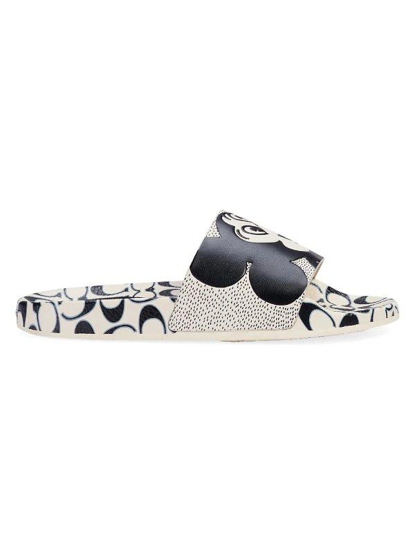 x Keith Haring Mickey 拖鞋