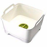 $14Joseph Joseph 85055 Wash & Drain Wash Basin Dishpan with Draining Plug Carry Handles